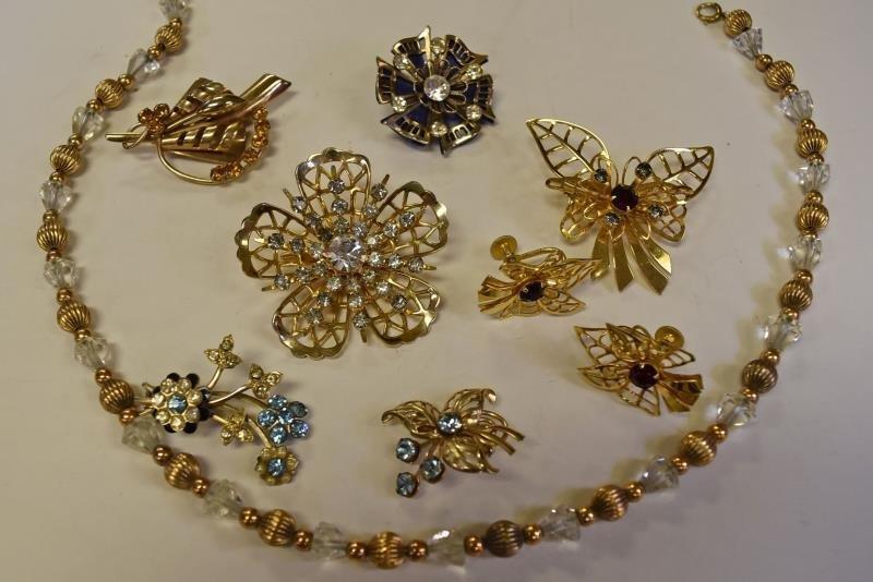 Group of Vintage Rhinestone Jewelry
