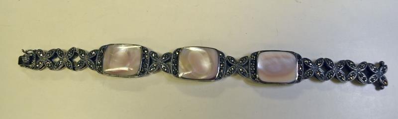 Sterling Silver Marcasite Bracelet