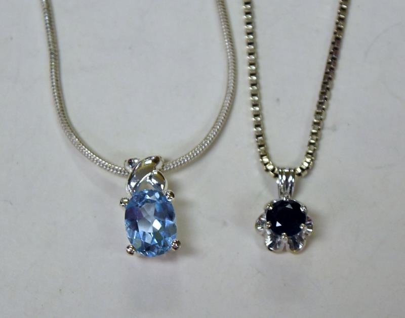 Two Sterling Silver Pendant Necklaces