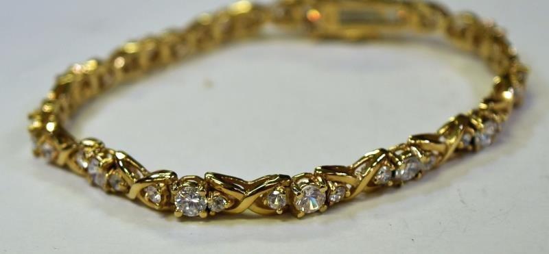 Two Gold over Sterling bracelets - 3