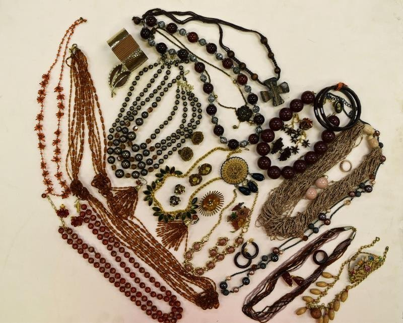 Group of Natural Colored Costume Jewelry
