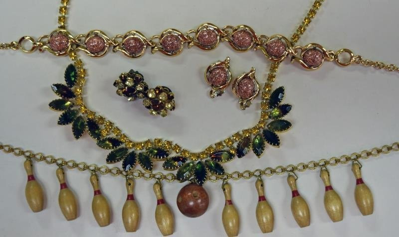 Group of Natural Colored Costume Jewelry - 2