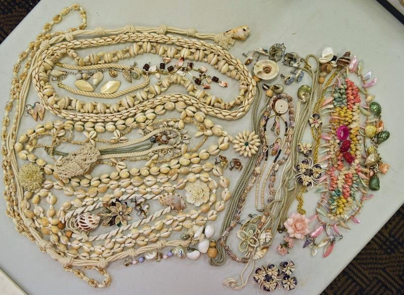 Group of Shell Costume Jewelry