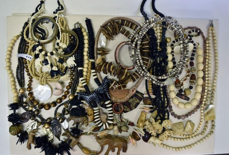 Group of African Influenced Costume Jewelry