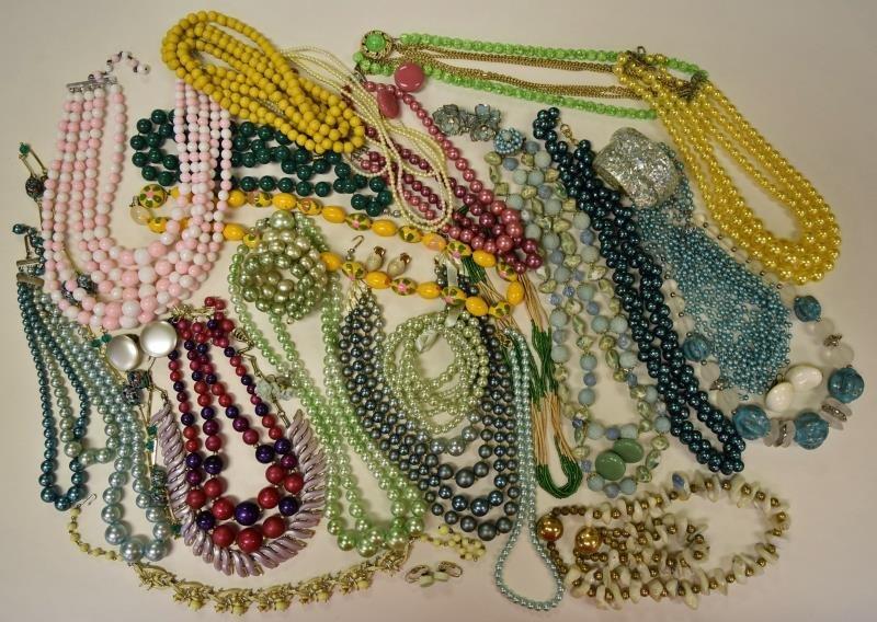 Group of Midcentury Costume Jewelry