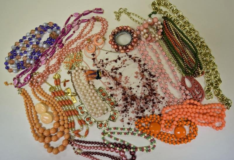 Group of Midcentury Costume Jewelry