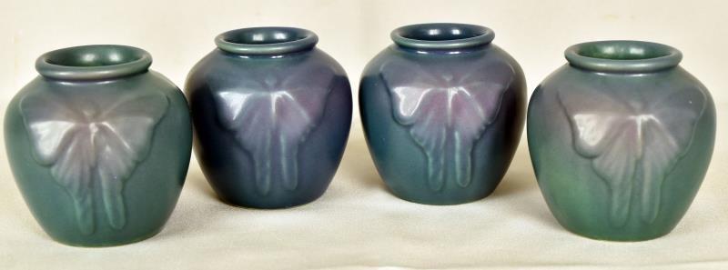 Van Briggle Moth or Butterfly Vases
