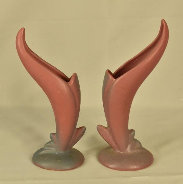 Van Briggle Bird of Paradise Bud Vases