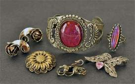 Group of Sterling Silver Jewelry Consisting of a