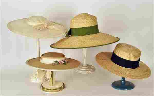 Collection Of Four Vintage Ladies Hats