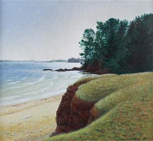 PHILLIP EDWARDS (20TH CENTURY) FROM THE CLIFFTOP,