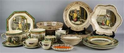 COLLECTION OF ADAMS 'CRIES OF LONDON' PART SET,