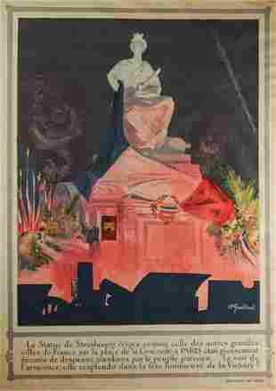 ANDRE GALLAND FRENCH 18861965 LA STATUE DE