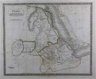 BRITISH SCHOOL 19TH CENTURY MAPS OF NUBIA ABYSSINIA