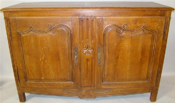 9: FRENCH PROVENCIAL OAK BUFFET CABINET