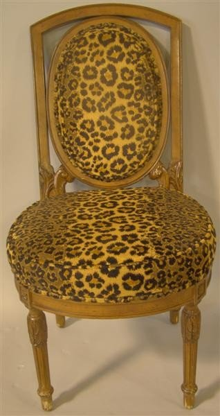 11: LEOPARD PRINT UPHOLSTERED SIDE CHAIR