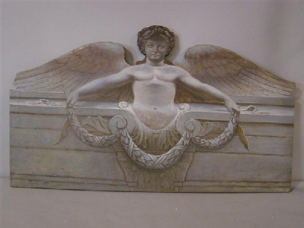 17: DECORATIVE PAINTED ANGEL WALL HANGING