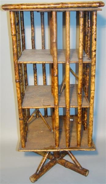 20: BAMBOO REVOLVING LIBRARY BOOK STAND