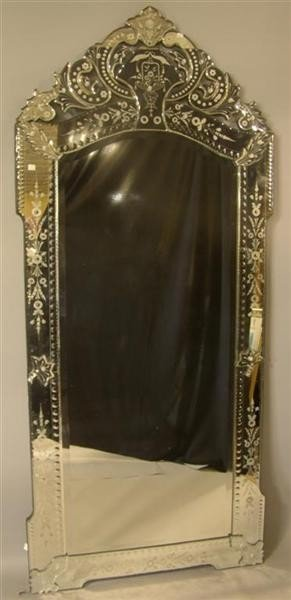 22: LARGE VENETIAN STYLE ACID ETCHED MIRROR