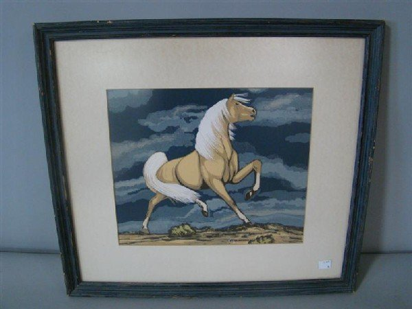 284: FRANK VIGIL (1922-1974) APACHE ART OF HORSE