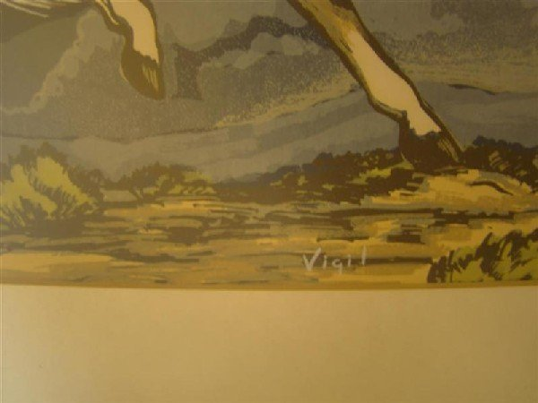 284: FRANK VIGIL (1922-1974) APACHE ART OF HORSE - 2