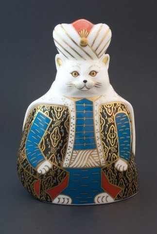 1: ROYAL CROWN DERBY PERSIAN ROYAL CATS FIGURE