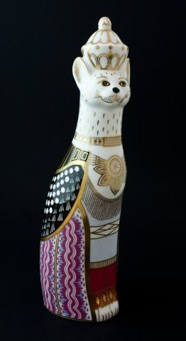 4: ROYAL CROWN DERBY BURMESE ROYAL CATS FIGURE