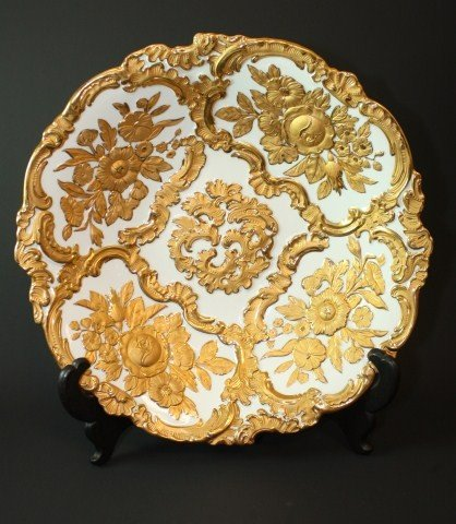 10: MEISSEN GERMANY PORCELAIN GILDED BOWL
