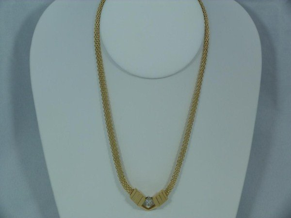 14K YELLOW GOLD MARQUIS DIAMOND NECKLACE