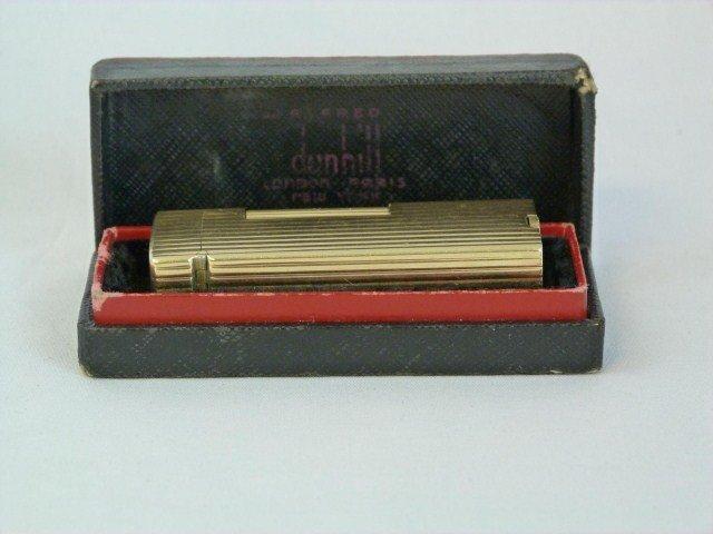 DUNHILL VINTAGE 14K YELLOW GOLD BUTANE LIGHTER - 8