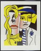 292 ROY LICHTENSTEIN STEPPING OUT SIGNED LITHOGRAPH