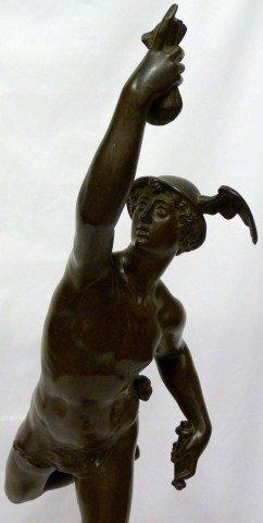116: JEAN DE BOLOGNE BRONZE MERCURY SCULPTURE - 3