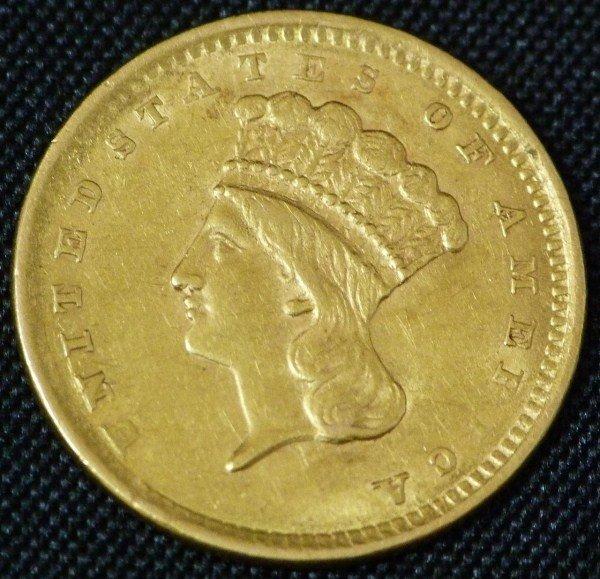 15: 22K GOLD 1856 LIBERTY DOLLAR TYPE 3