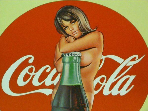 191: COCA COLA POSTER OF NUDE FEMALE AND 50'S BOTTLE - 3