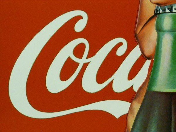 191: COCA COLA POSTER OF NUDE FEMALE AND 50'S BOTTLE - 6