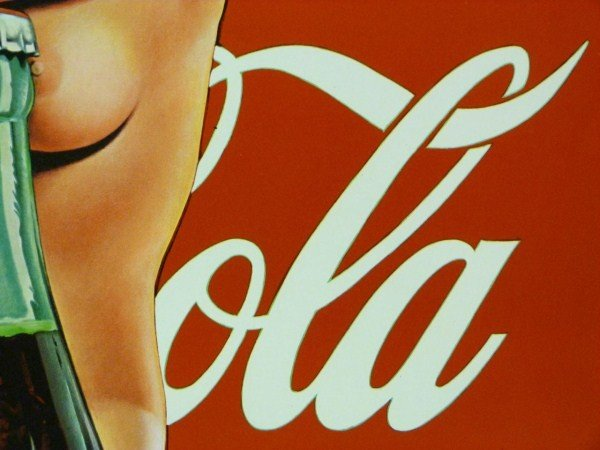 191: COCA COLA POSTER OF NUDE FEMALE AND 50'S BOTTLE - 7