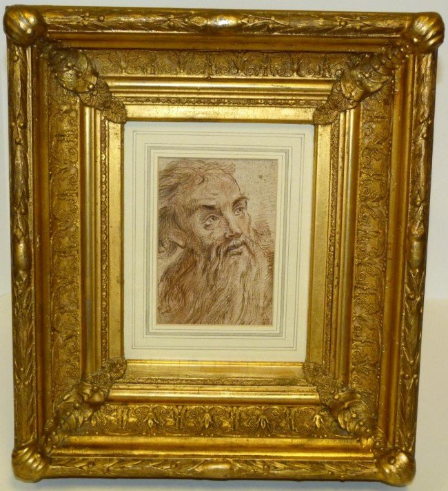 5: ETCHING OF MOSES IN GILT FRAME