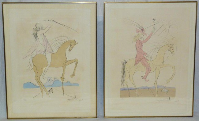 7: 2 SALVADOR DALI ETCHINGS SIGNED