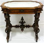 227: ANTIQUE VICTORIAN MARBLE TOP TABLE
