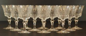 5: 12 BACCARAT PARME FRENCH CRYSTAL WATER GOBLETS