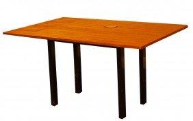 23: DUNBAR TAWI WOOD TOP FOLDING CONSOLE TABLE