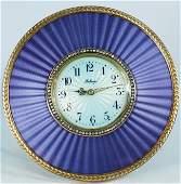 89 OLD RUSSIAN GOLD ENAMEL DESK CLOCK