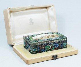 99: FEDOR RUCKERT RUSSIAN SILVER & ENAMEL BOX