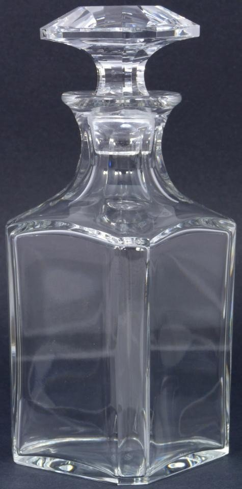 19: BACCARAT FRENCH CLEAR CRYSTAL DECANTER