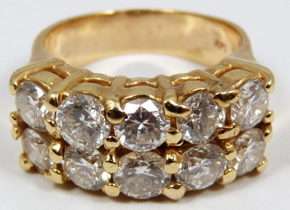 14KT YG 3.30CTW DIAMOND RING
