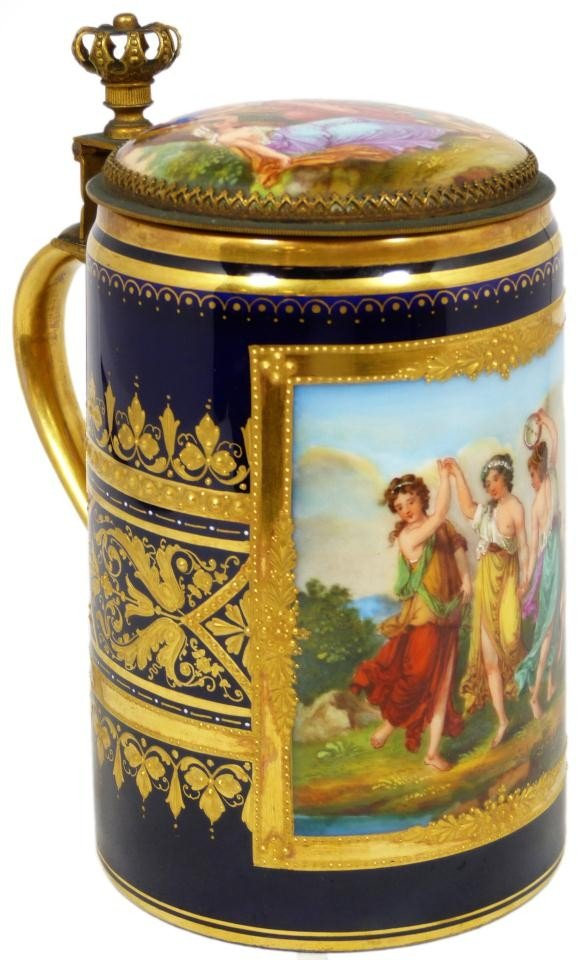 44: ROYAL VIENNA HAND PAINTED GRACES STEIN SIGNED