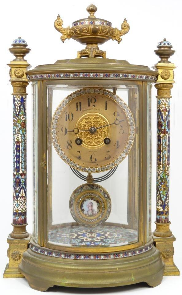 53: FRENCH REGULATOR CLOCK BY SAMUEL MARTI 1900
