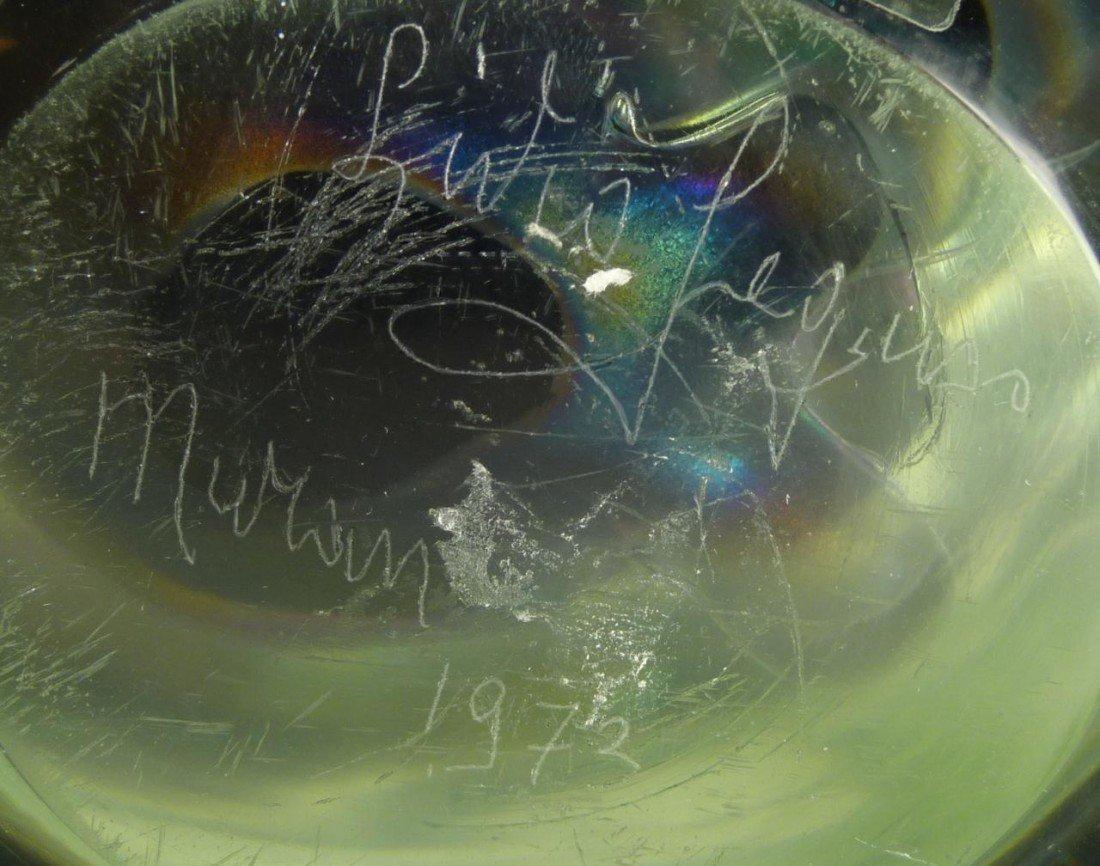 82: LIVIO SEGUSO MURANO ART GLASS 'EMBRYO' SCULPTURE - 6