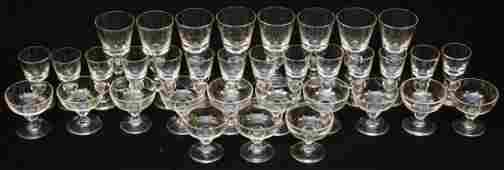 250 35pc SET OF STEUBEN STEMWARE GLASSES