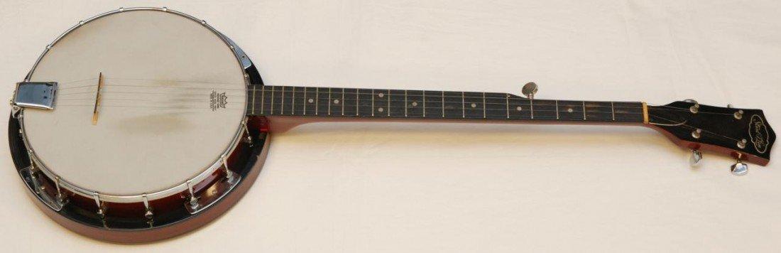 355: 1950's CHERRY FINISH STRAD-O-LIN 5 STRING BANJO